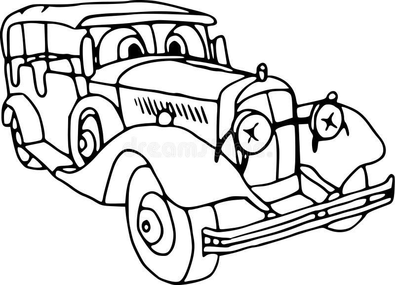 汽车马达退伍军人 皇族释放例证