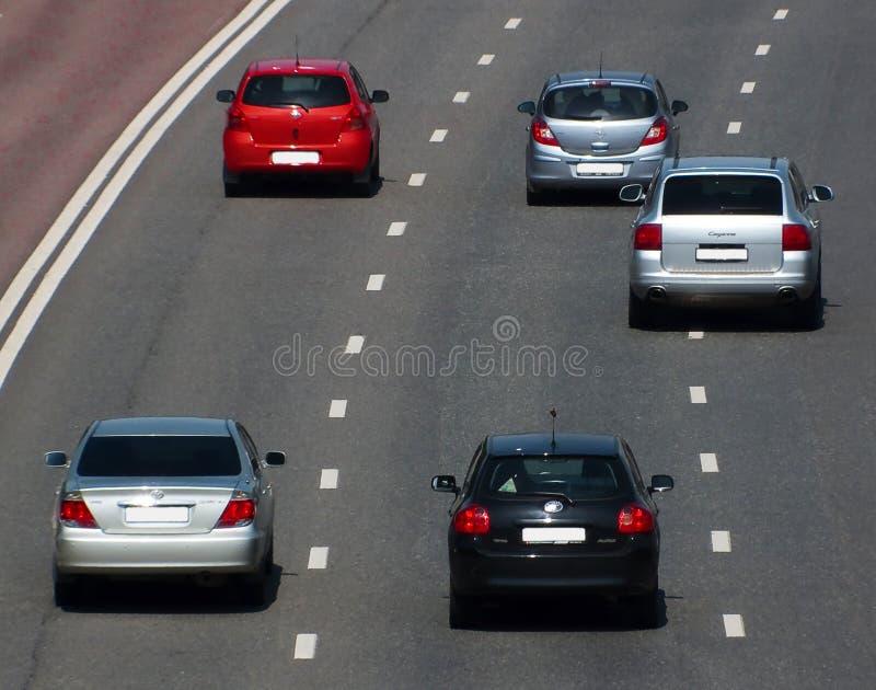 汽车高速公路路 免版税库存图片
