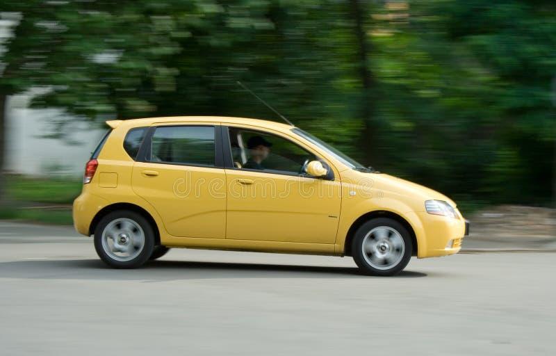 汽车黄色 免版税库存图片