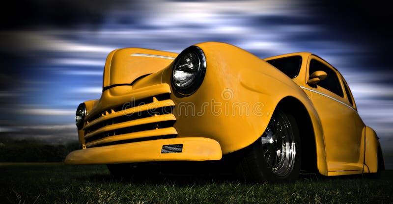 汽车黄色 库存照片