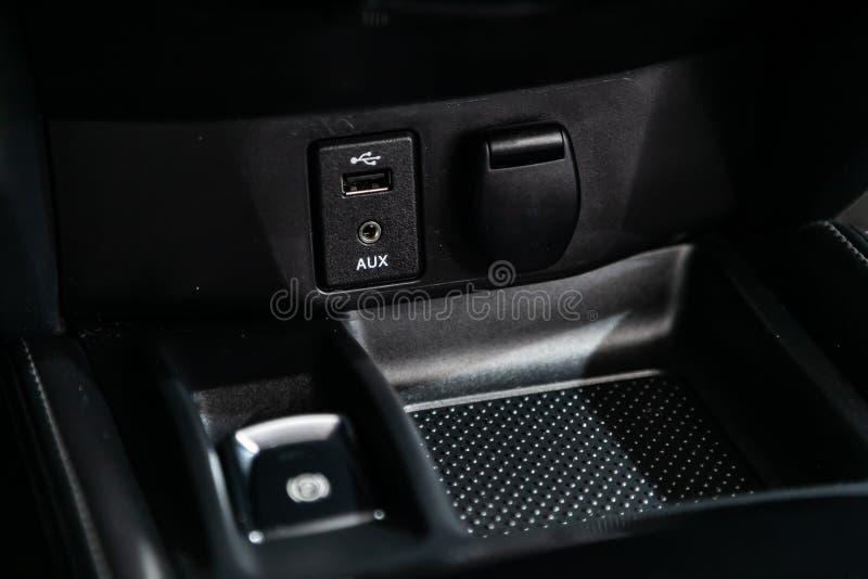 汽车黑色内部 库存图片