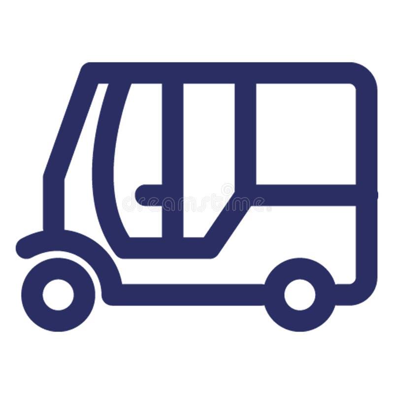 汽车,人力车可能容易地修改或编辑的传染媒介象 库存例证
