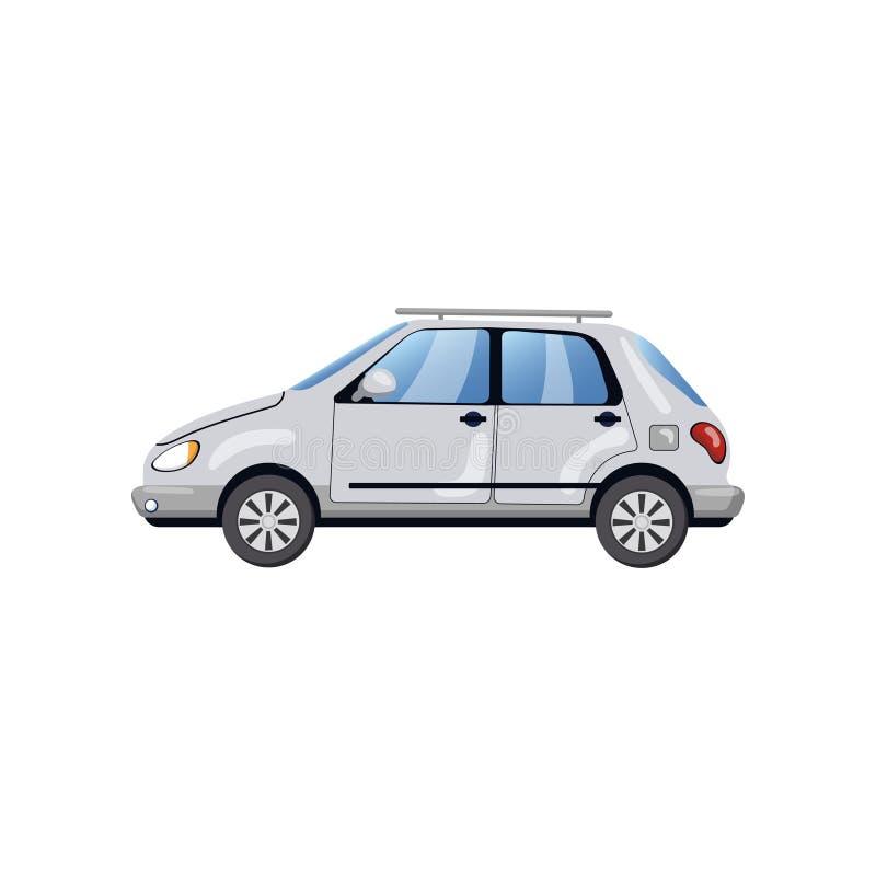 汽车,侧视图,汽车保险概念动画片传染媒介例证 皇族释放例证