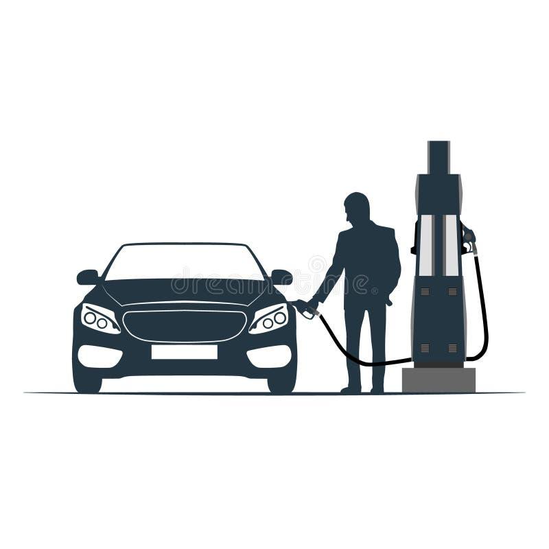 汽车,刺激,运输,加油站 向量例证