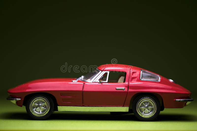 汽车经典红色 免版税库存照片