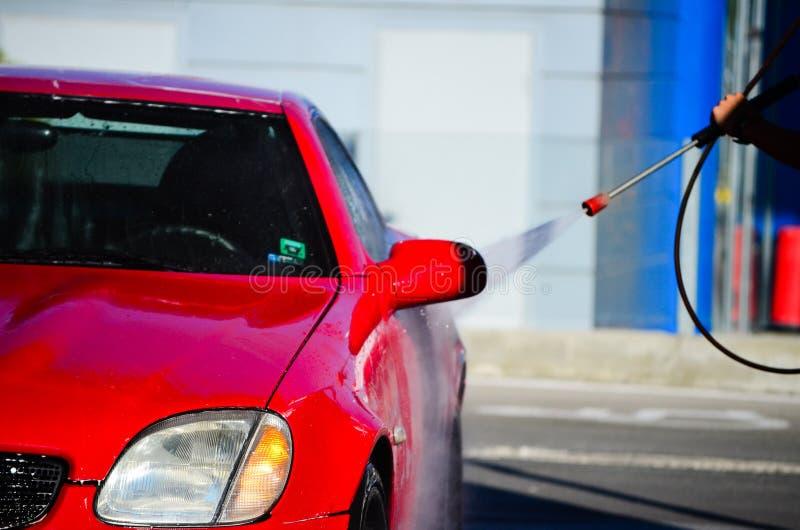 汽车洁净洗涤关闭的概念 免版税库存图片