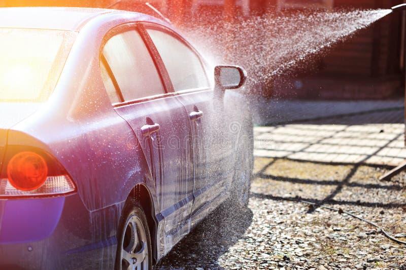 汽车洁净洗涤关闭的概念 库存图片