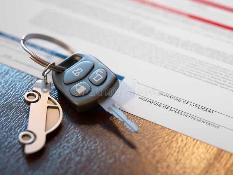 汽车贷款应用 库存照片