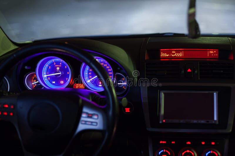 汽车仪表板 库存图片