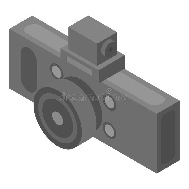 汽车dvr照相机象,等量样式 向量例证