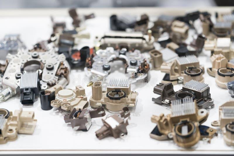 汽车gernerator电镀物品高技术和工程学  免版税库存照片