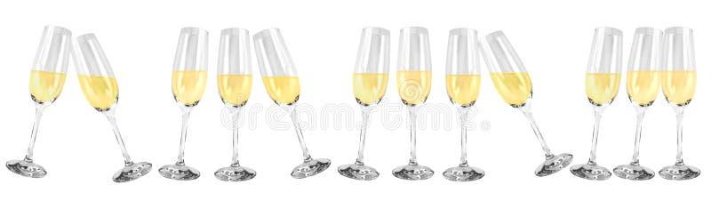 汽酒玻璃 库存例证