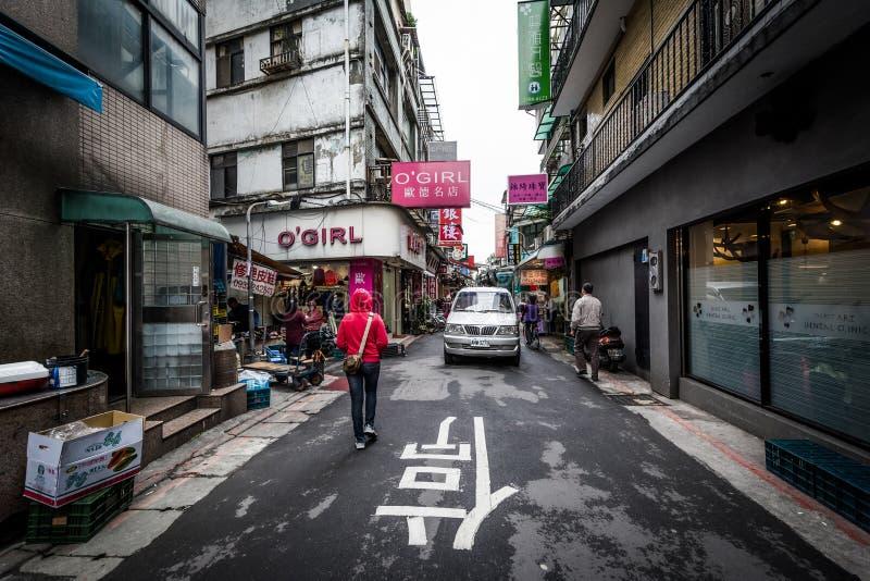 临沂街,在Dongmen附近,在中正区,台北, 免版税图库摄影