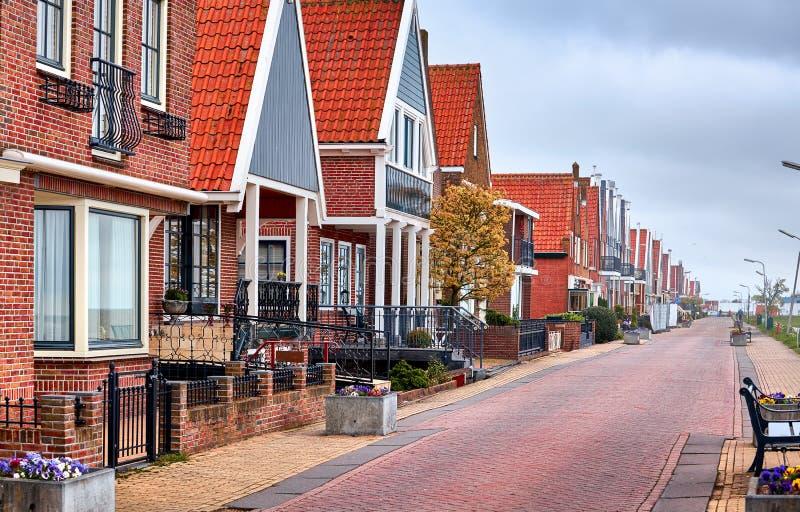 沃伦丹渔村全景荷兰 免版税库存照片