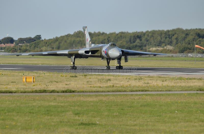 沃尔坎火山轰炸机XH558 图库摄影