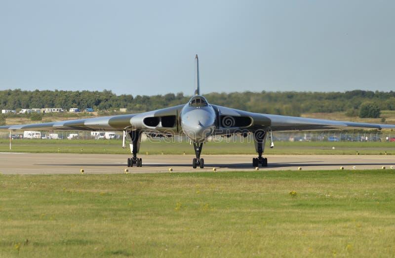 沃尔坎火山轰炸机XH558 免版税库存照片