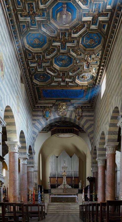 沃尔泰拉大教堂 库存照片