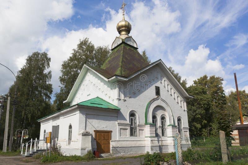 沃洛格达地区圣格雷戈里圣佩尔谢姆斯科戈卡德尼科夫教堂 库存图片