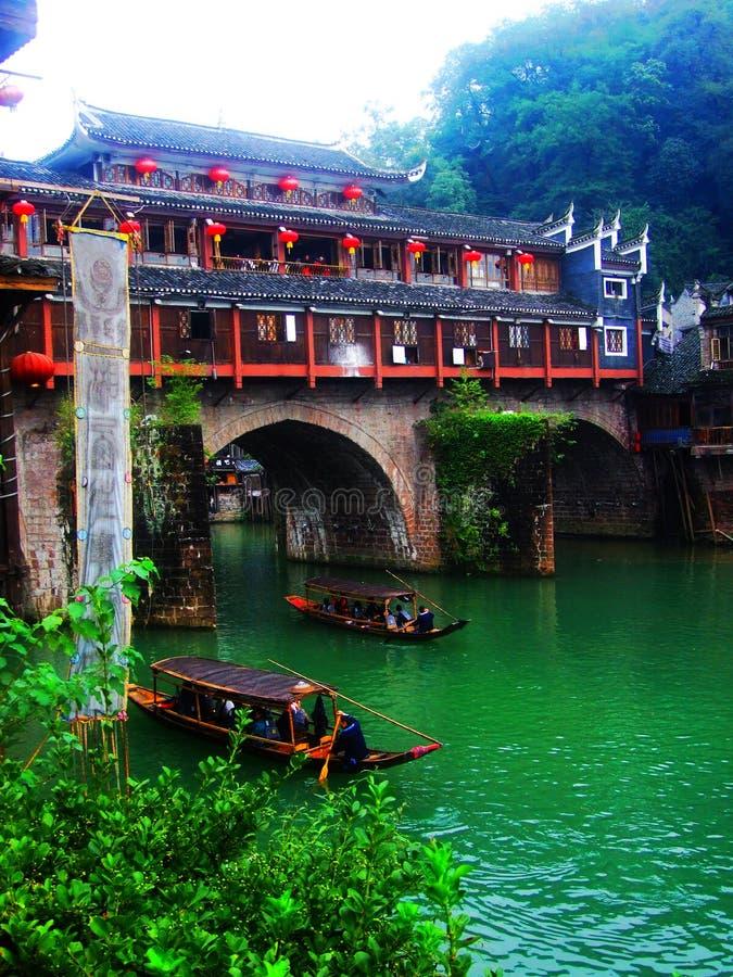 沃特敦,古老桥梁,中国菲尼斯风景 库存照片
