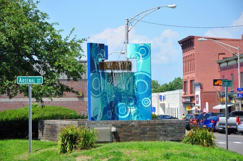 沃特敦,纽约州,美国 库存照片