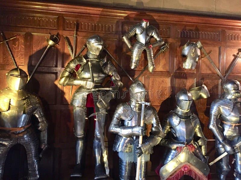 沃里克城堡装甲 免版税库存照片