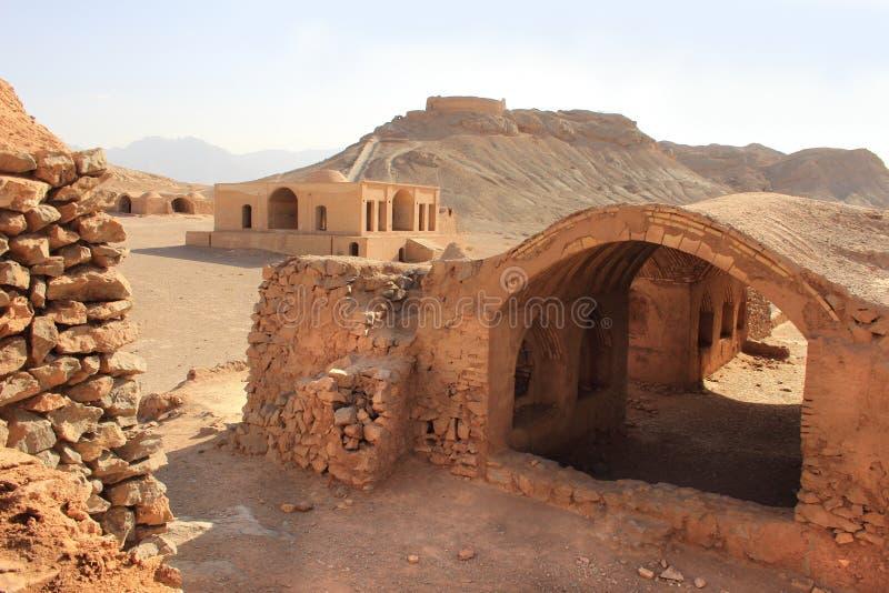沈默塔在亚兹德,伊朗附近的 图库摄影