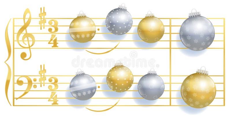 沈默夜圣诞节球歌曲 皇族释放例证