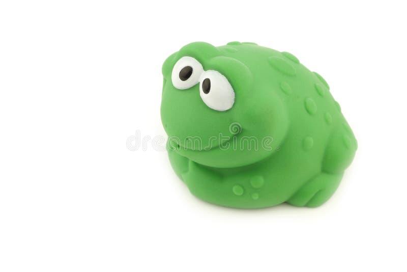 沐浴玩具的青蛙 库存图片