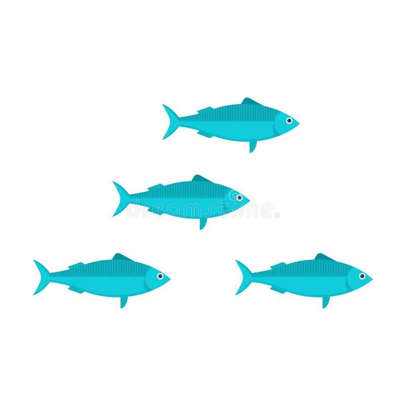 沙丁鱼学校传染媒介例证 皇族释放例证