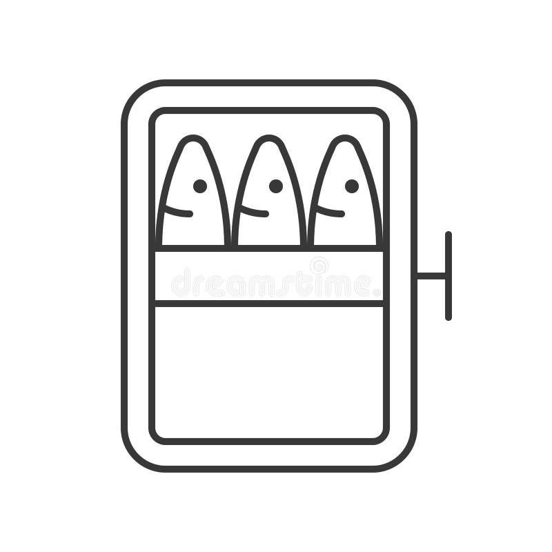 沙丁鱼装鱼,食物概述传染媒介象于罐中 皇族释放例证