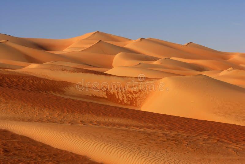 沙丘倒空季度 库存照片