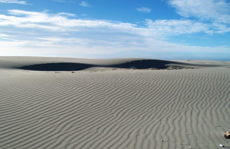 沙丘告别最近的沙子小的唾液 免版税库存照片