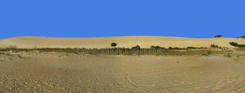 沙丘和蓝天全景 库存照片