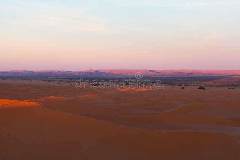 沙丘在尔格Chebbi,西撒哈拉,摩洛哥 免版税图库摄影