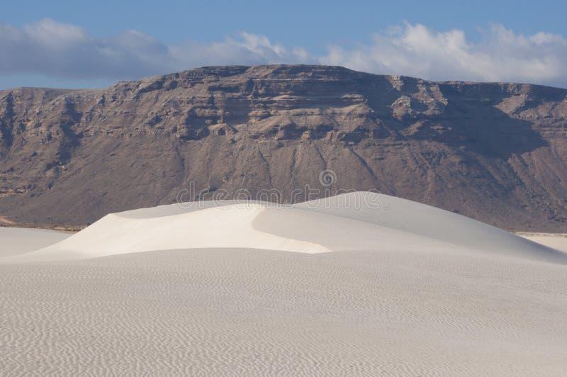 沙丘在索科特拉岛 免版税库存图片