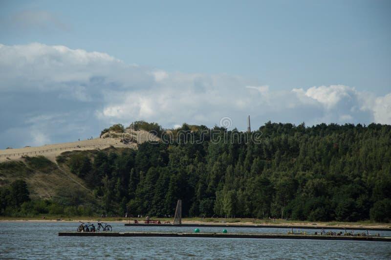 沙丘在Neringa 库存图片
