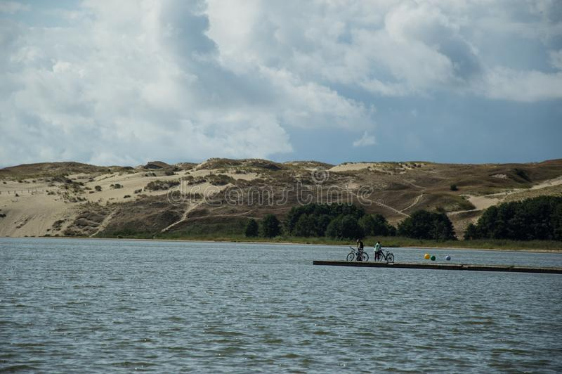 沙丘在Neringa 免版税库存照片