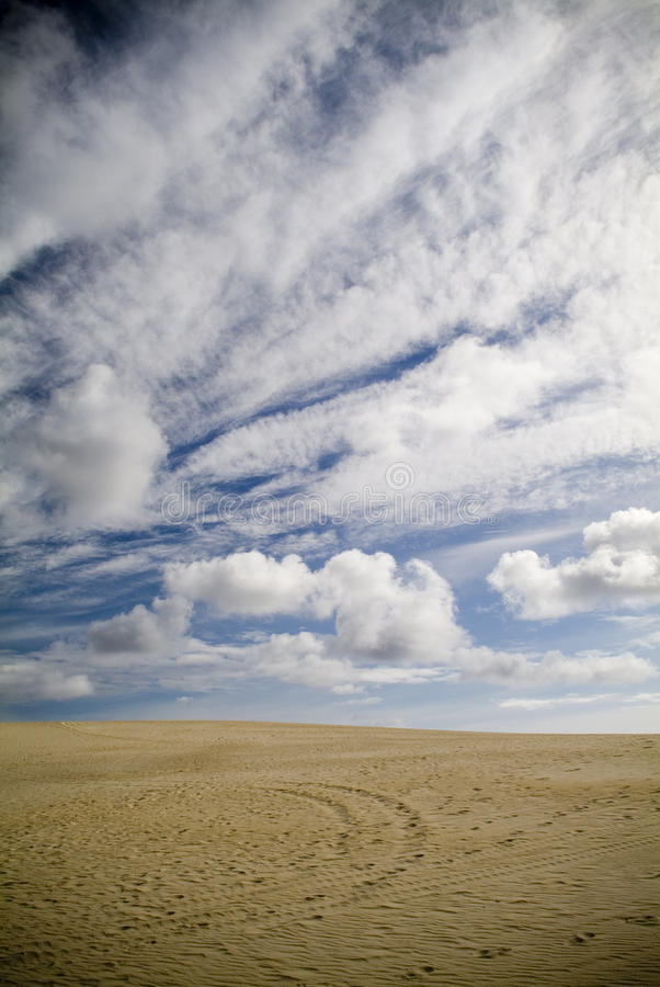 沙丘沙子天空 库存照片