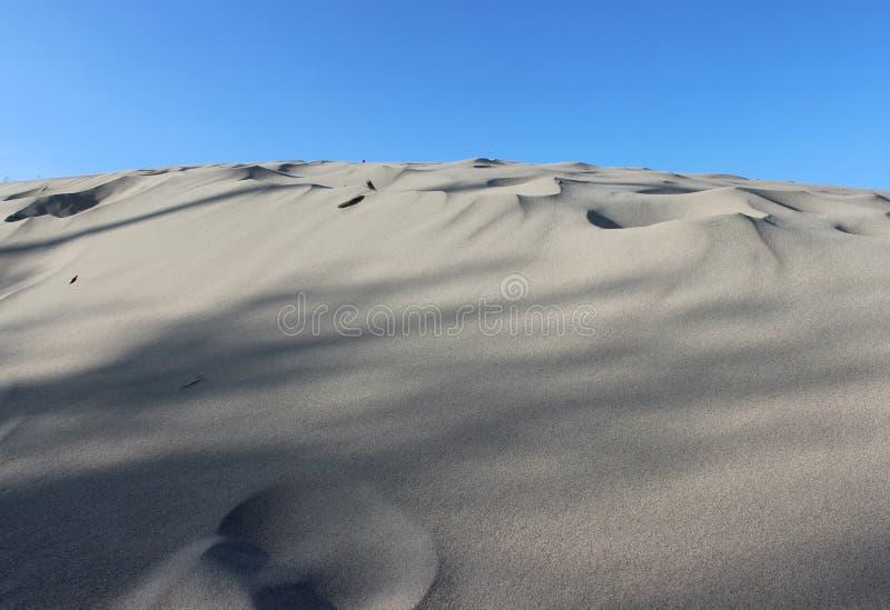 沙丘海滩沙漠水平天空的背景 免版税库存图片