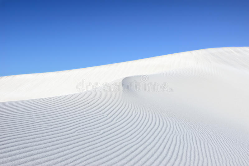 沙丘白色 图库摄影