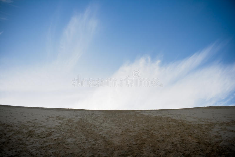 沙丘边缘pilat 库存照片