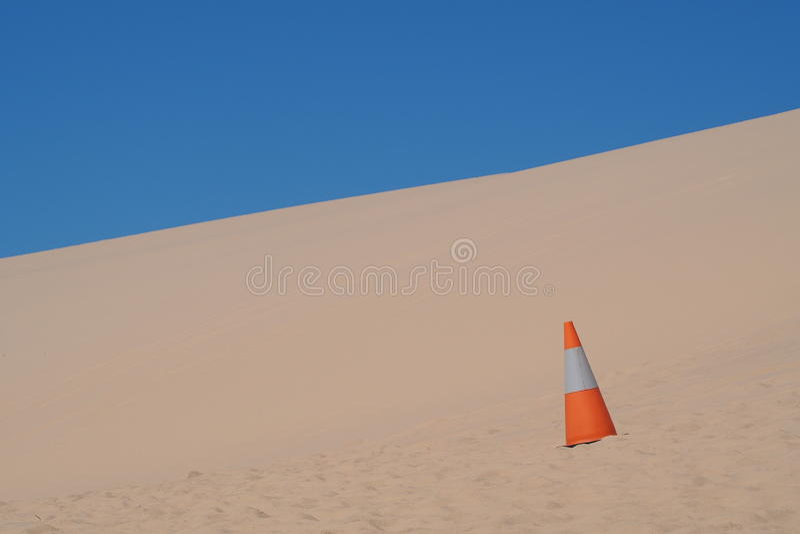 沙丘领域 免版税库存照片
