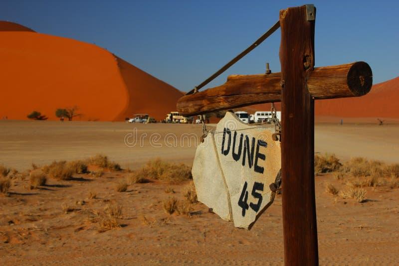 沙丘45,纳米比亚 免版税库存照片