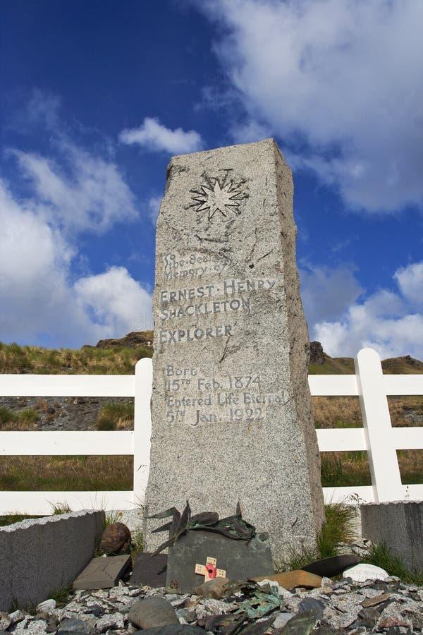 沙克尔顿Grytviken Zuid乔治亚,严重Schackleton Grytvi伯爵 免版税库存照片