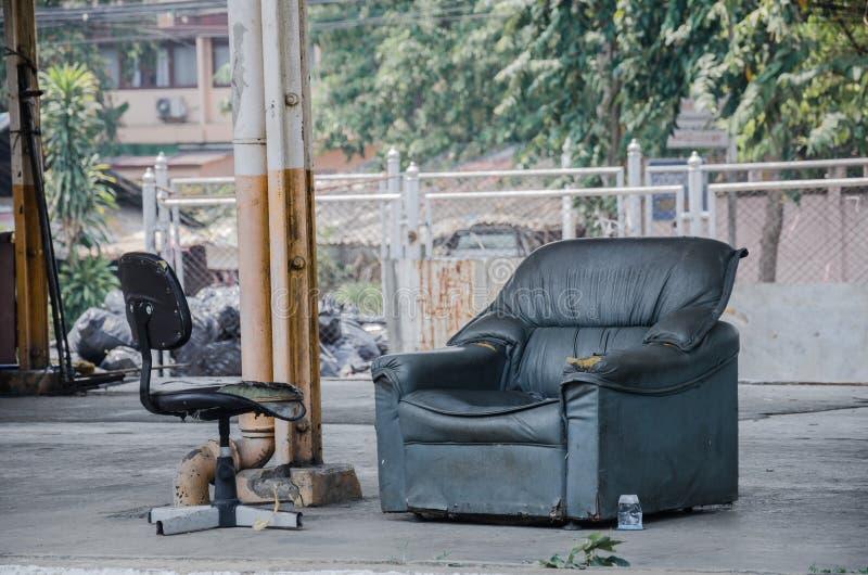 沙发和椅子没有人 免版税库存图片