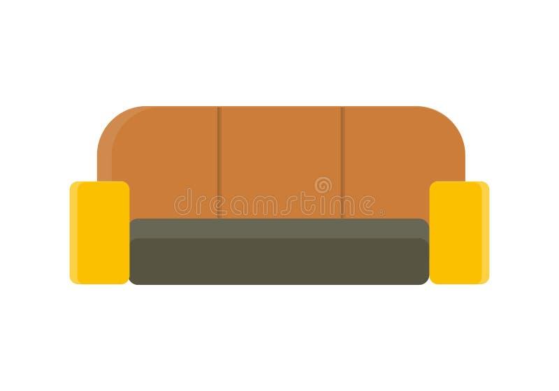 沙发在平的设计的传染媒介例证 库存例证