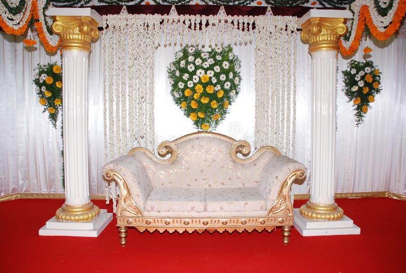 沙发婚礼 库存照片