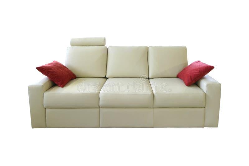 沙发白色 库存图片