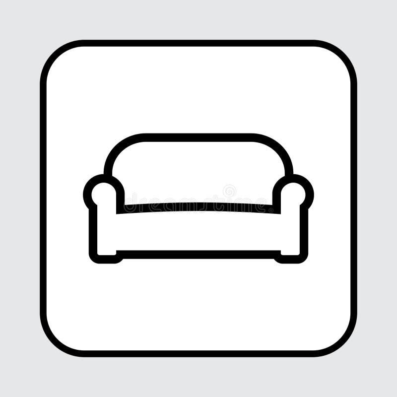 沙发象,概述设计 也corel凹道例证向量 皇族释放例证