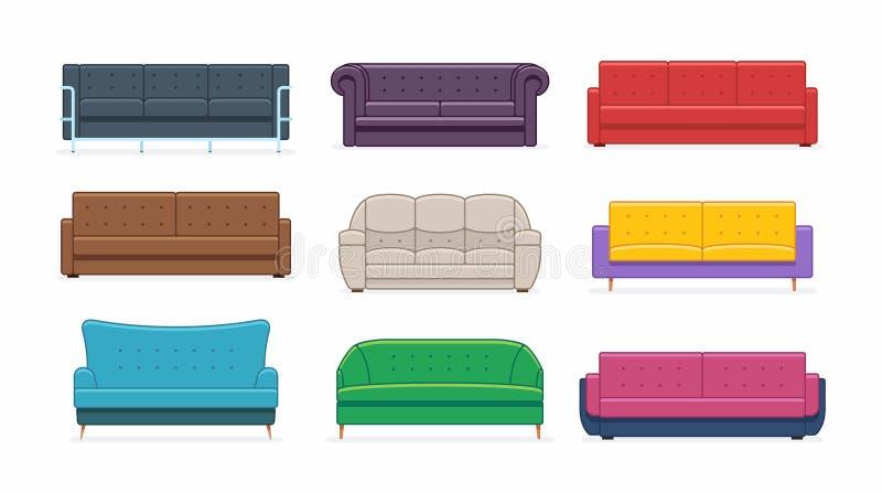 沙发集合 向量例证